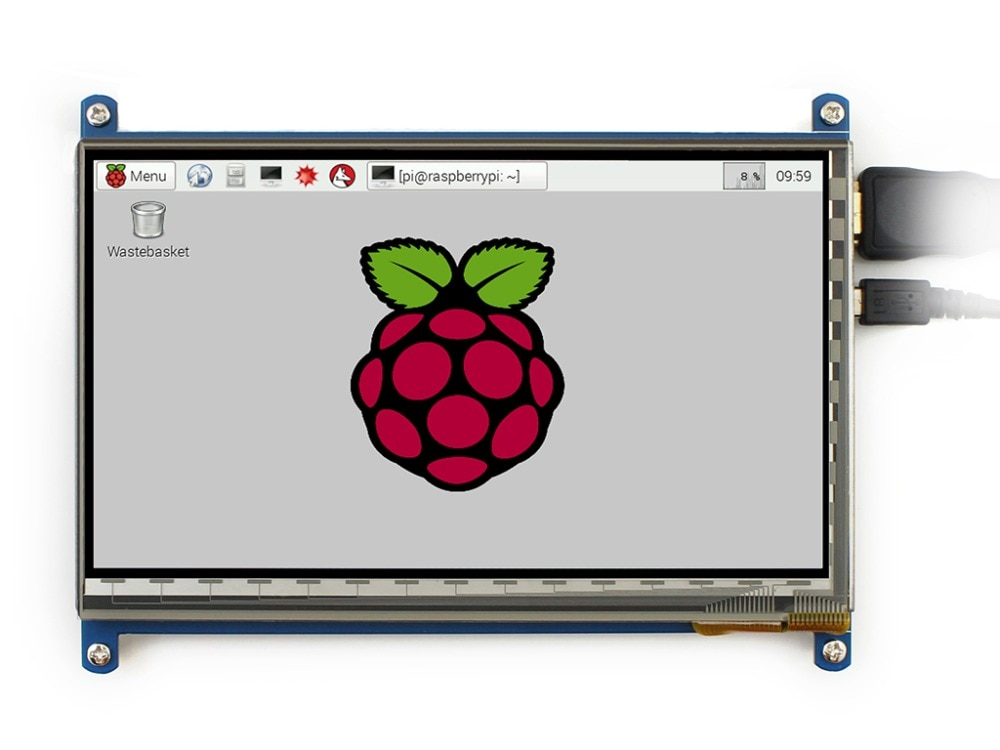 7 pulgadas HDMI módulo LCD táctil LCD para Raspberry Pi