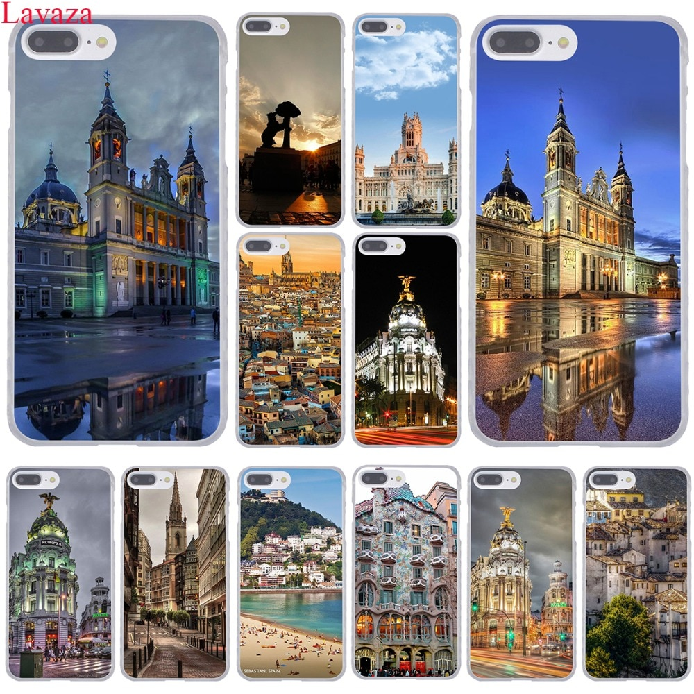 Carcasa rígida para iPhone XR, XS, X, 11 Pro, Max, 10, 7, 8, 6, 6S, 5, SE, 5S, 4 de Lavaza, Madrid, 4S, España