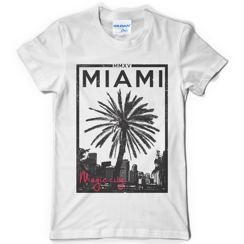 Camiseta blanca de hip hop starnger things, camiseta con diseño de ciudad mágica para hombre, camiseta de manga corta, oferta barata, Camiseta de algodón