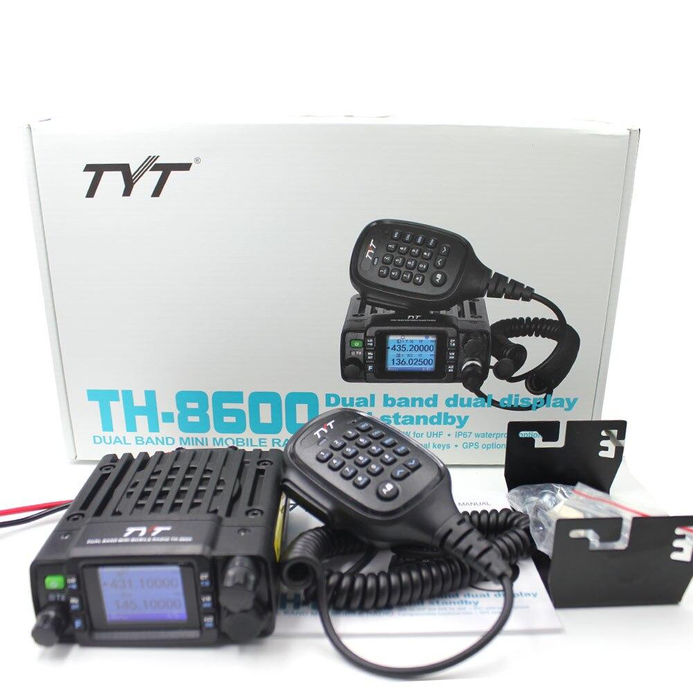 TYT TH-8600 Mini Mobile Radio 25W Dual Band 136-174MHz 400-470MHz VHF UHF Walkie Talkie Ham Radio Communciator Radio Station enlarge