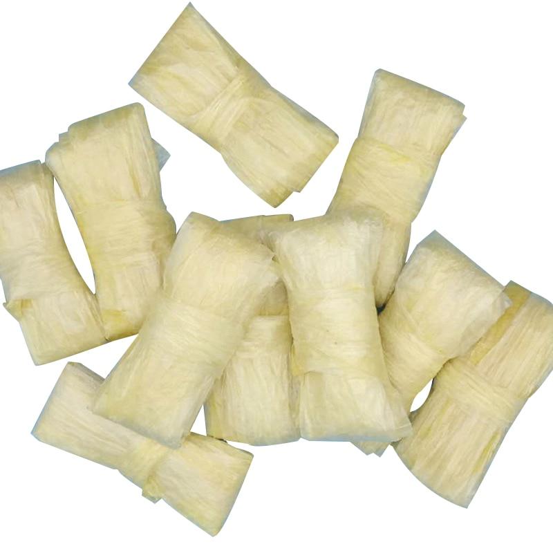 10 unids/set de casquillos de salchicha de cordero Natural 25 metros de envoltura de salchicha de cordero seca Total diámetro plano 22mm embutidor de salchichas herramientas de cocina