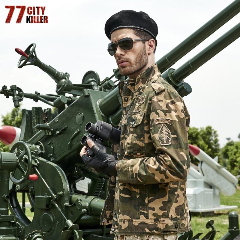 77City Killer Military Camouflage Jacket Men Outwear Camo Troops Coats Tactical Bomber Jackets Male Veste Chaqueta Size M-6XL