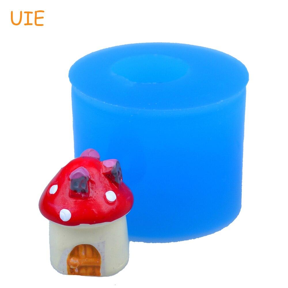 FYL363U, 18,5mm, molde de silicona para casa, hongo 3D, decoración de pasteles, Fondant, galletas, pasta de chicle, molde de arcilla polimérica de resina