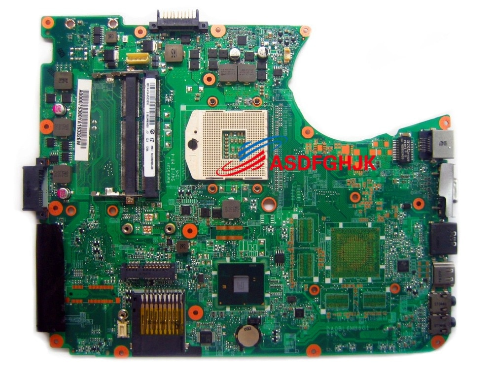 Genuino A000075380 DA0BL6MB6G1 para Toshiba Satellite L650 L655 placa base para portátil 100% TESED bien