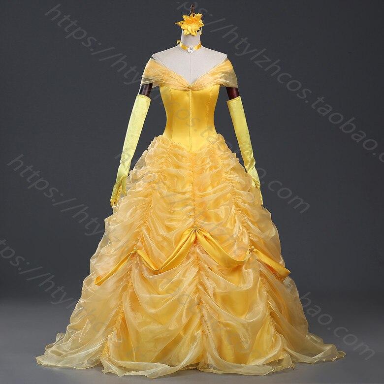 Desenhos animados cosplay feminino halloween princesa traje beleza ea besta belle vestido adulto princesa belle traje livre petticoat