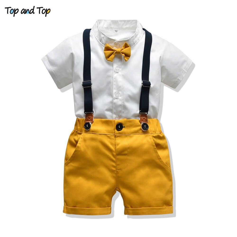 Топ и топ, комплекты одежды для маленьких мальчиков, одежда для новорожденных мальчиков, шорты, топы с рукавами + комбинезоны, комплекты из 2 предметов, летняя одежда для малышей