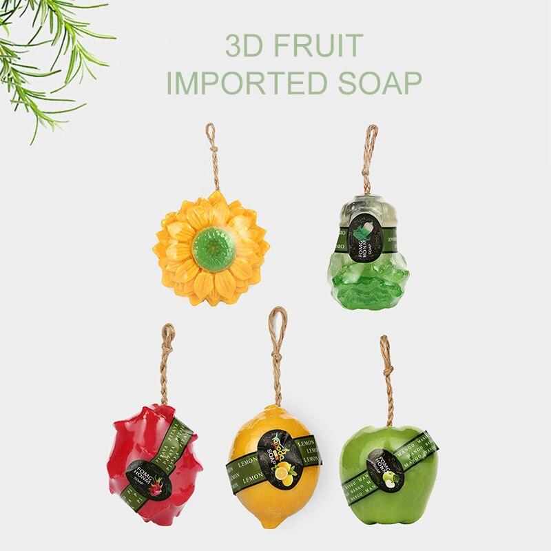 Jabón de Tailandia Bumebime hecho a mano, jabón blanqueador con extracto de frutas, jabón de flores para reducir la melanina, jabón blanco para el cuidado de la piel TSLM1