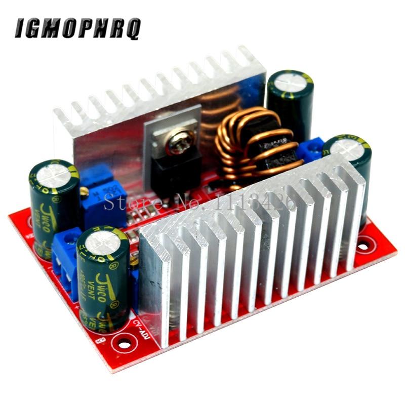 Módulo de aumento del convertidor de potencia de 400W 15A DC-DC Módulo de suministro de energía constante de aumento 8,5 V-50V a 10V-60V módulo LED de impulso