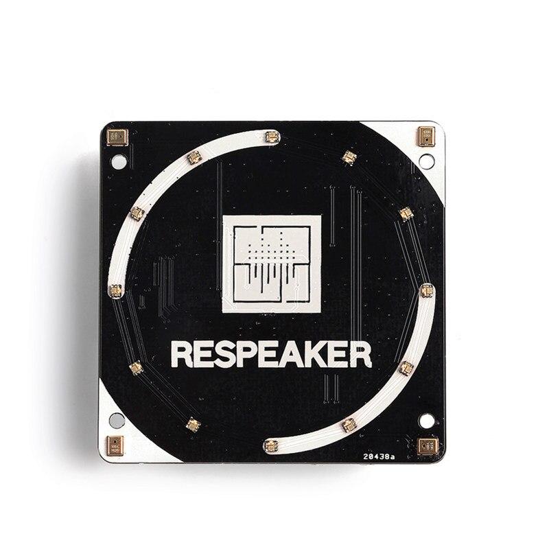 مجموعة سماعات الرأس ، 4 ميكروفونات لـ Raspberry Pi 4 ، مع AI ، التطبيقات الصوتية ، لوحة توسيع ميكروفون رباعي