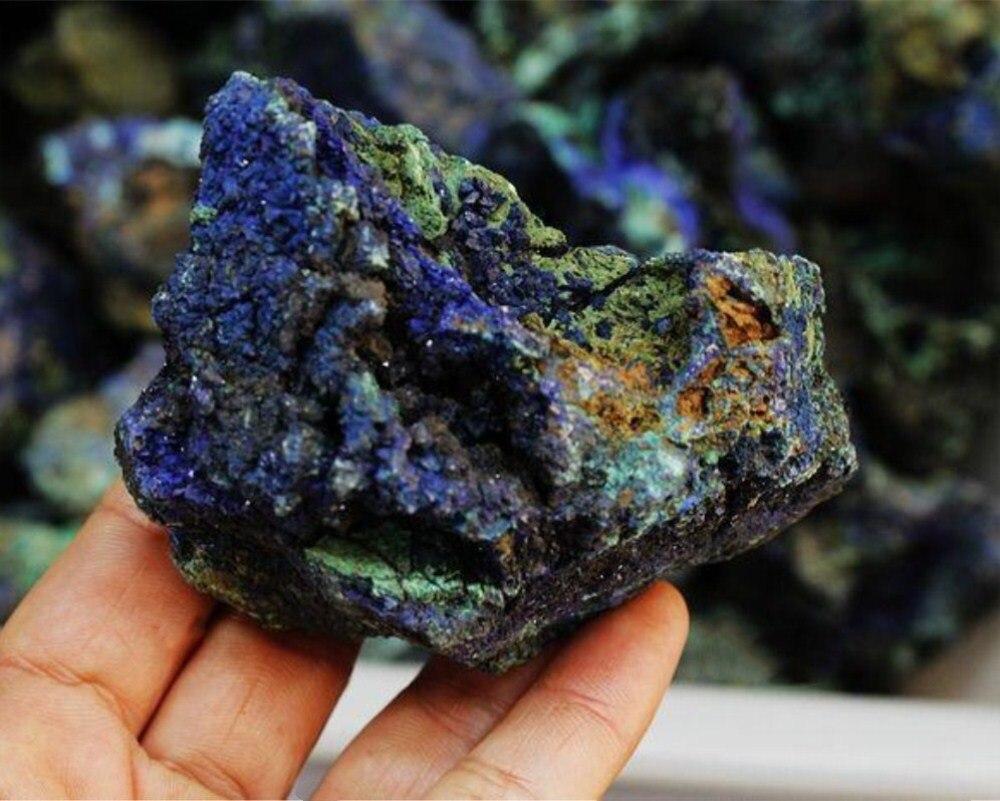 200 г натуральный azurite кристалл оригинальный камень синий кварц образцы минералов очень красивые как украшение