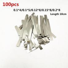 100 pièces en acier nickelé bande Nickel Plaque Sangle Bande Feuilles pour 18650 machine de soudage par points de batterie Soudeur/soudeuse par points