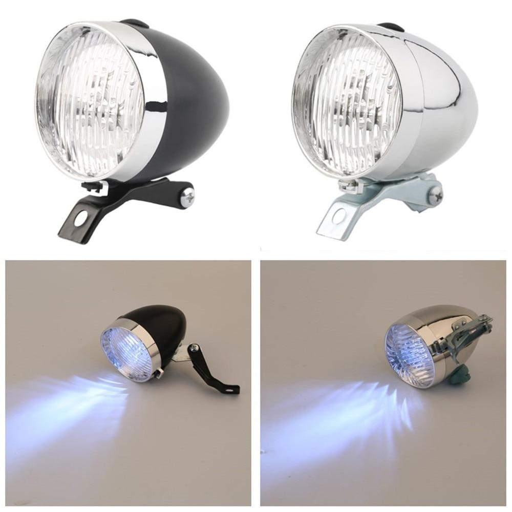 Retro 3 LED Bicycle Light Bike Front Light Two Flash Mode Headlight Vintage Flashlight Lamp for Riding at Night