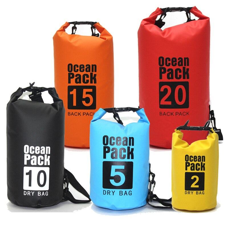 5L 30L Embalagem Saco Seco Impermeável Saco de Natação Rafting Canoagem Rio Trekking Flutuante Vela Canoagem Canoagem Resistência À Água