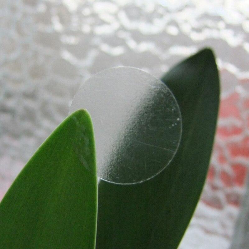 108 Uds 3,5 cm etiquetas redondas transparentes círculo PVC sellado etiquetas pegatinas redondas regalo transparente caja de decoración sello pegatinas