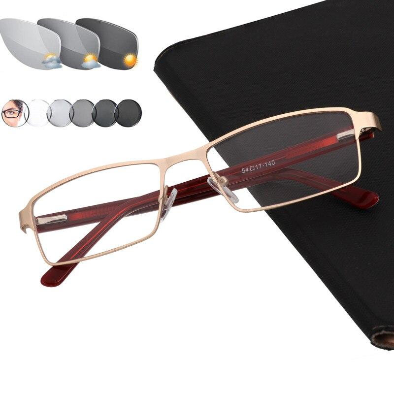 Sun photochromic masculino óculos de leitura de vidro farsighness + 50 + 75 100 125 150 175 200 225 250 275 325 350 375 + 400 + + + + +