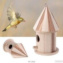 Nid nichoir en bois bleu   Cage à oiseaux, petite Cage à oiseaux, petits oiseaux, livraison directe