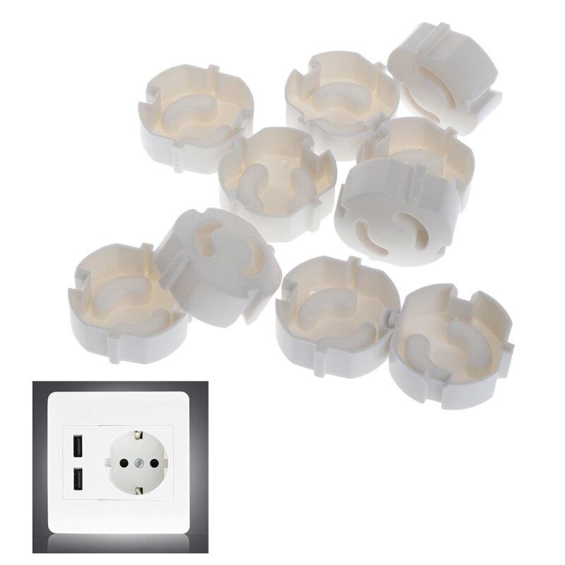 10 Uds. De enchufe de seguridad para bebés, protector de seguridad eléctrico para niños, protector de clavija de 2 agujeros ABS