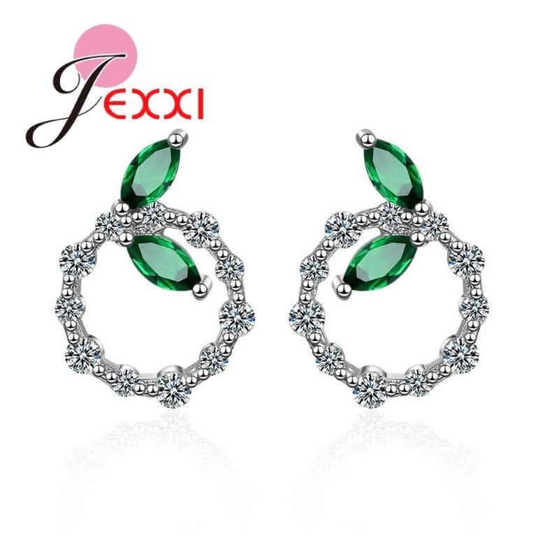 Pendientes de broche hechos a mano con forma de aro de cristal, piedras verdes bonitas para mujer, joyería de plata de ley 925, pendientes de broche para vestir, regalo Vintage