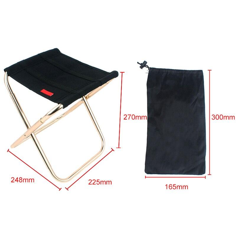 Asiento de silla plegable portátil de aleación de aluminio para pesca al aire libre, Camping, Picnic, playa, sillas plegables 88 para triangulación de envíos