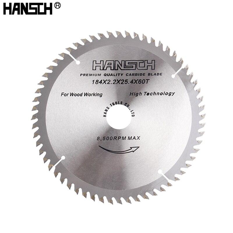 HANSCH 7 /184 мм циркулярная пила 40/60 зубчатые диски для резки дерева, алюминия, железной пластины, электропила, электроинструмент