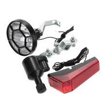Fahrrad Lichter Set Kit Bike Sicherheit Front Scheinwerfer + Rücklicht Hinten licht Dynamo Keine Batterien Benötigt taschenlampe für fahrrad