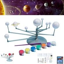 Solar System Modell DIY Spielzeug Kind Wissenschaft und Technologie Lernen Solar System Planeten Lehre Montage Färbung Pädagogisches Spielzeug
