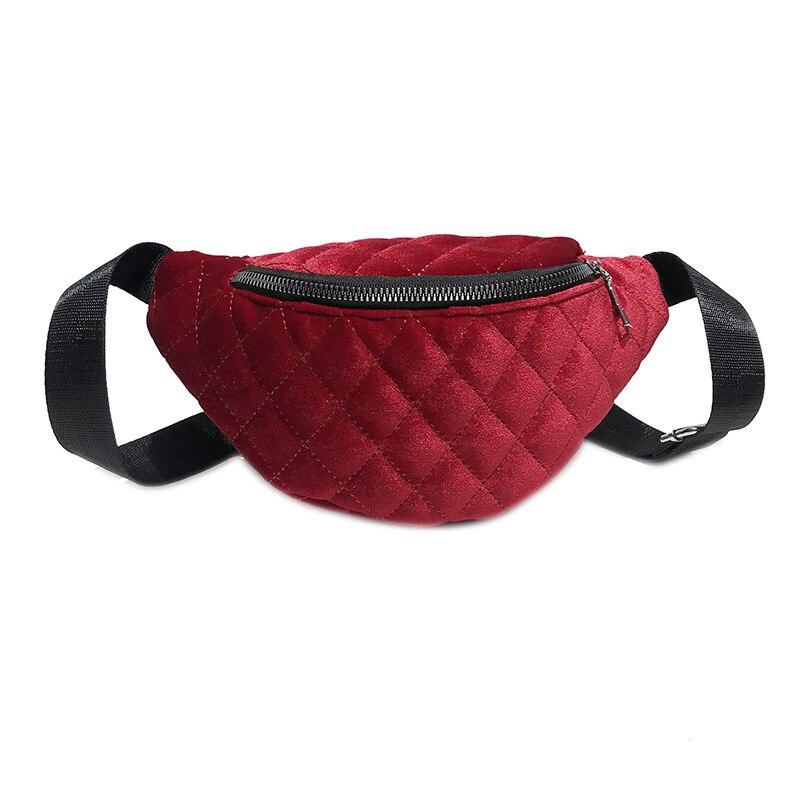 15 unids/lote, nuevo estilo, riñonera para mujer, riñonera, riñonera, cinturón, monedero, Velour, bolsos con cremallera para mujer