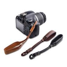 Caméra PU Poignet-Sangle Double Couche En Cuir À La Main Lanière pour Panasonic Lumix FZ2000 FZ1000 FZ2500 FZ300 GF9 GF8 GF7 GX8 GX7 GX800