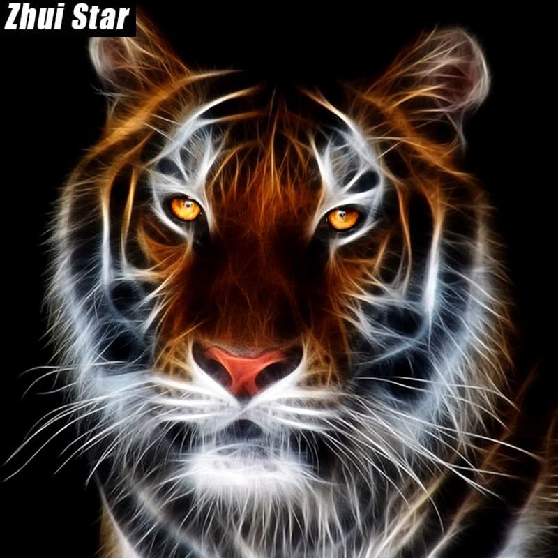 "Full Square Diamond 5D DIY Diamond Painting ""Animal tiger"" 3d Embroidery Cross Stitch Rhinestone Mosaic Painting Home Decor"