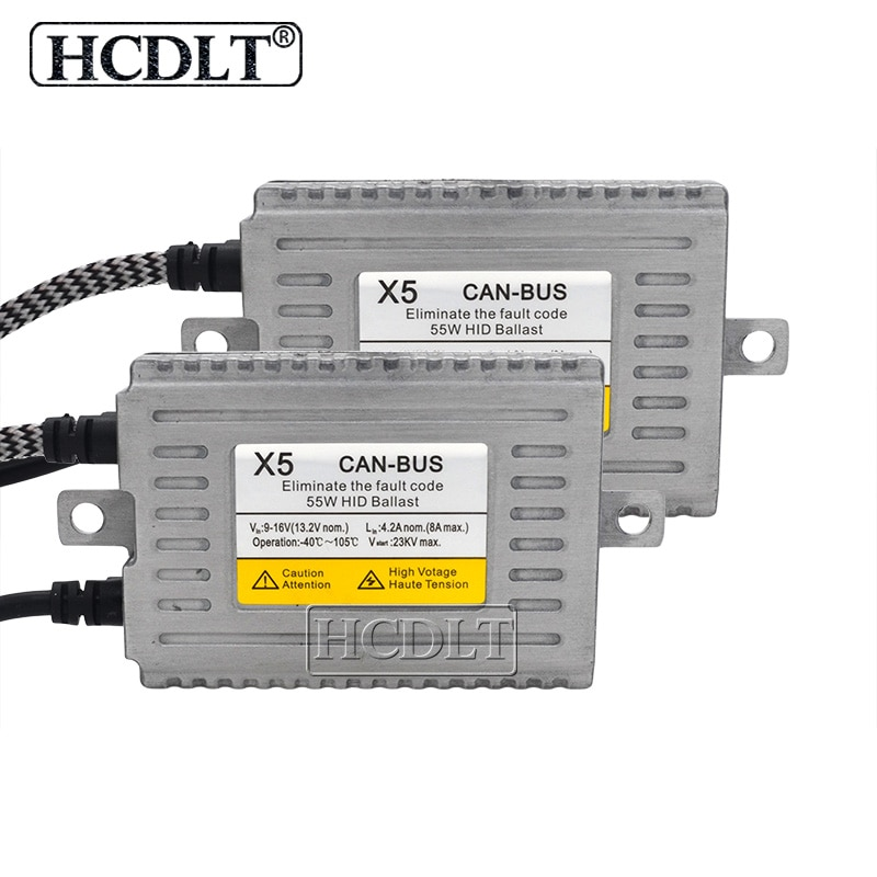 Hcdlt super canbus 55 w dlt x5 ac xenon canbus hid reator reator estilo do carro farol automático digital nenhum erro emc decodificador lastro