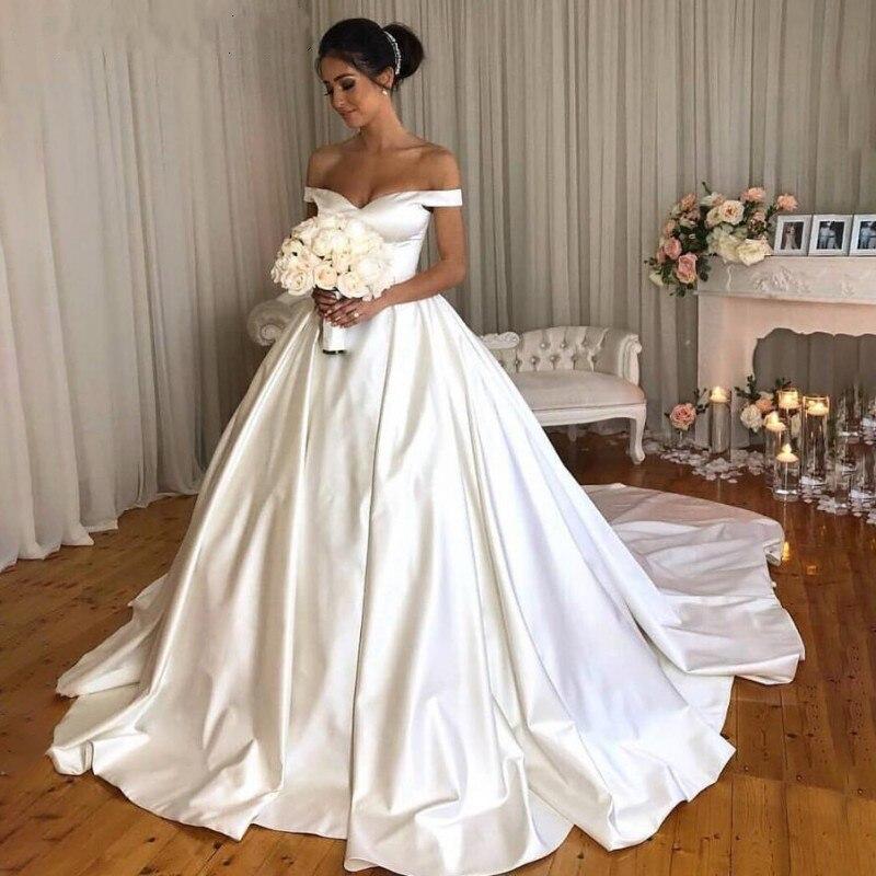 Vetidos de novia blanco vestido de fiesta vestidos de novia sin hombro...