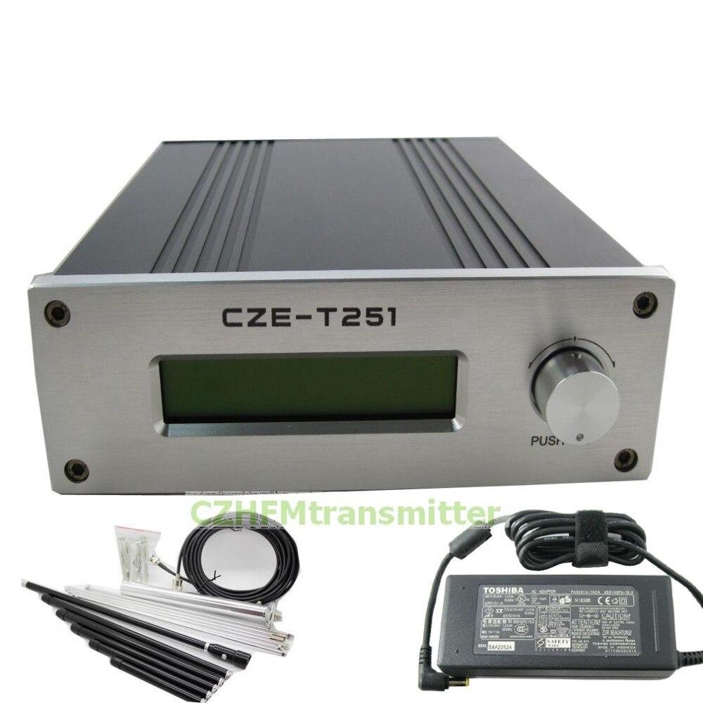 Профессиональный fm-передатчик CZH CZE-T251 0-25 Вт с регулируемой мощностью + антенна 1/4 GP