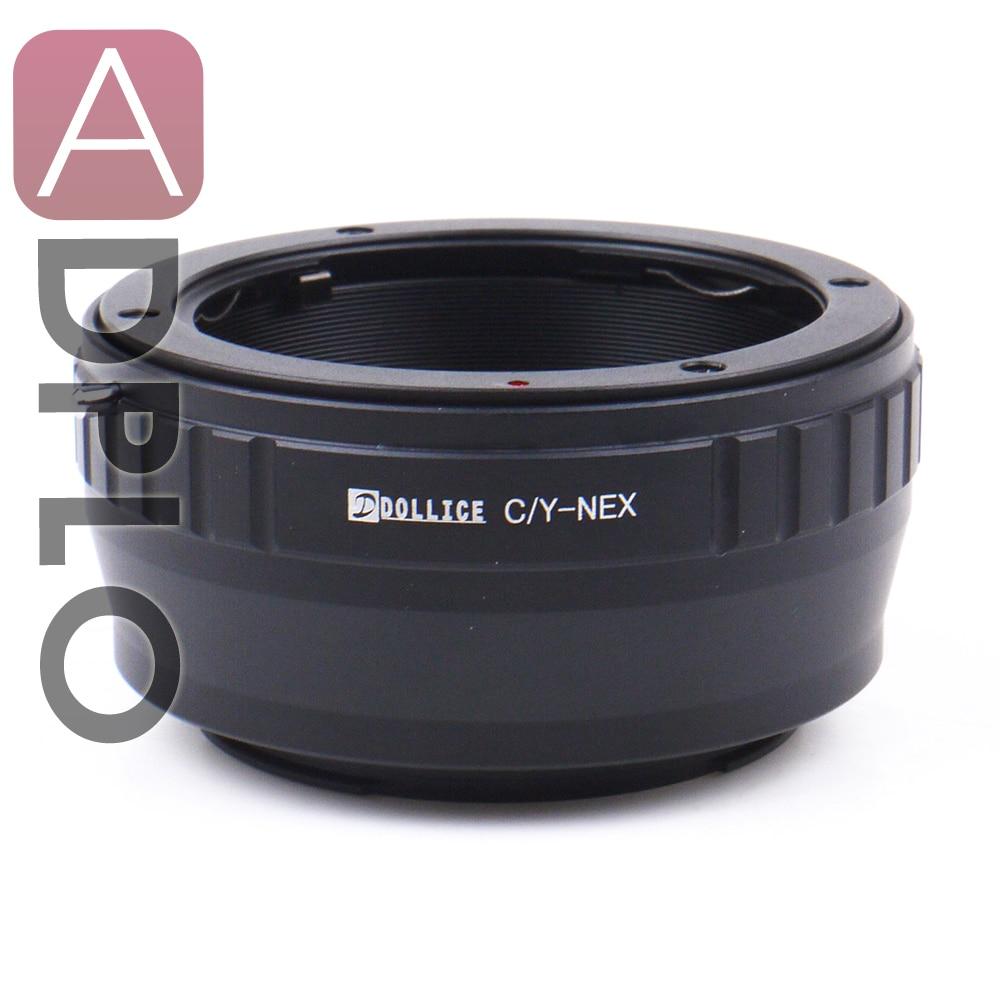-De metal adaptador de lente compatible para Contax CY lente para Sony montura E la próxima cámara A7 A7s A7R A7II A7RII A7SII