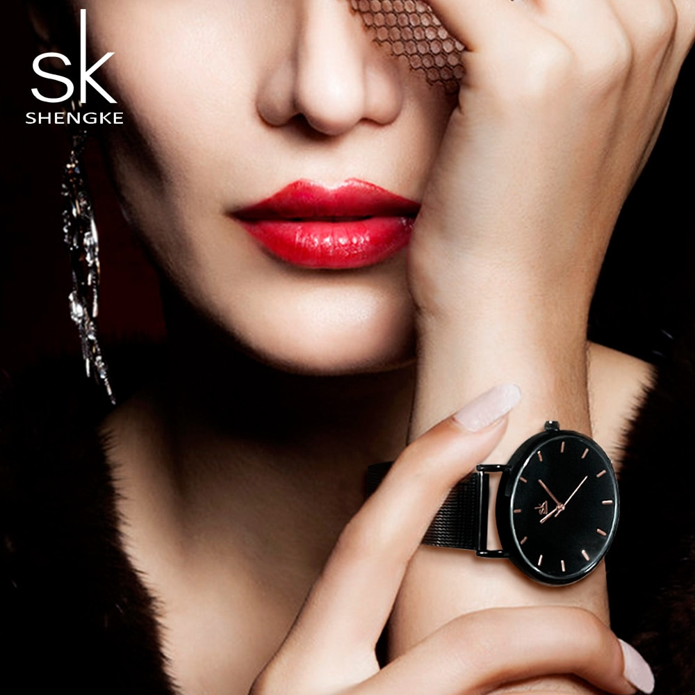 SK New Gold Watch Women Watches Ladies Stainless Steel Women's Bracelet Watches Female Life Waterproof Clock Relogio Feminino enlarge