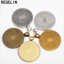 REGELIN bases de cabujón configuración colgante placas de bisel 10 unids/lote ajuste 30mm cabujón camafeo DIY collar fabricación de joyería