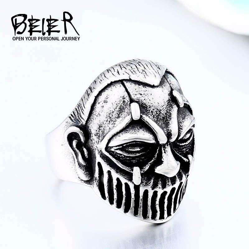 """BEIER """"no cierres tus ojos"""" Biker Skull anillo para hombre joyería Vintage para niños regalo Dropshipping Venta caliente 2018 BR8-562"""