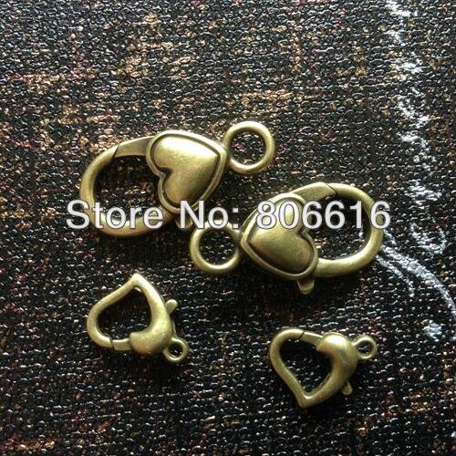 (Plz choose style) Fancy Antique Vintage Bronze Zinc Alloy Lobster Clasps Hooks Jewelry Findings Accessories