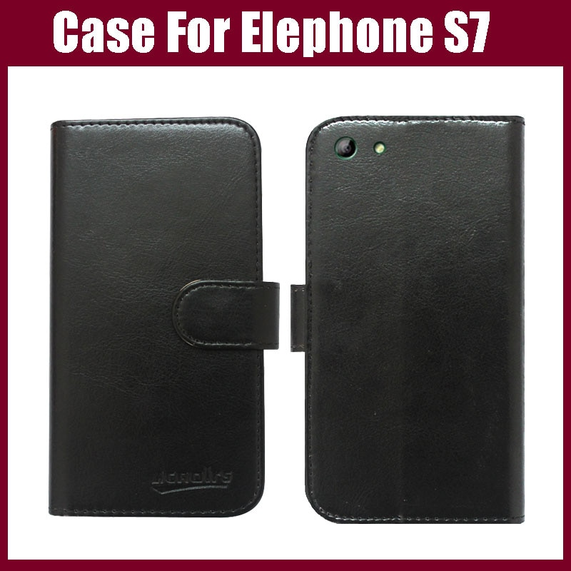 Hot sale! Elephone S7 Case,6 Colors High Quality Fashion Flip Leather Protective Case For Elephone S7 Cover Phone Bag