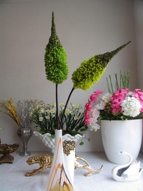 [] Cheap promotional snow decoration simulation flower artificial flowers yellowish green bromeliad bromeliad