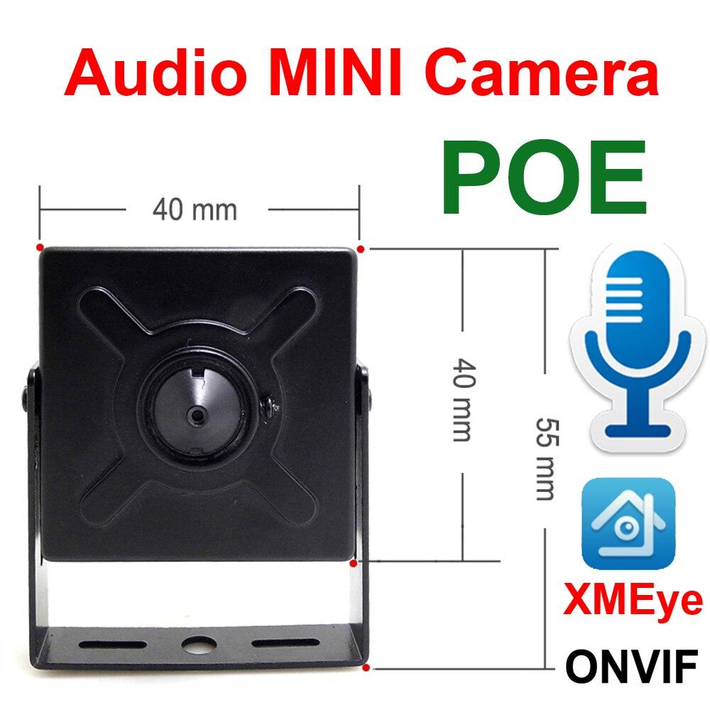 De Audio Mini cámara Ip 720P 960P 1080P Hd POE video de seguridad cctv vigilancia 2MP interior cámaras de seguridad vigilancia