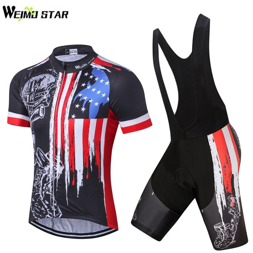Комплект мужской одежды для велоспорта, футболка с принтом в виде черепов и велосипедных шорт