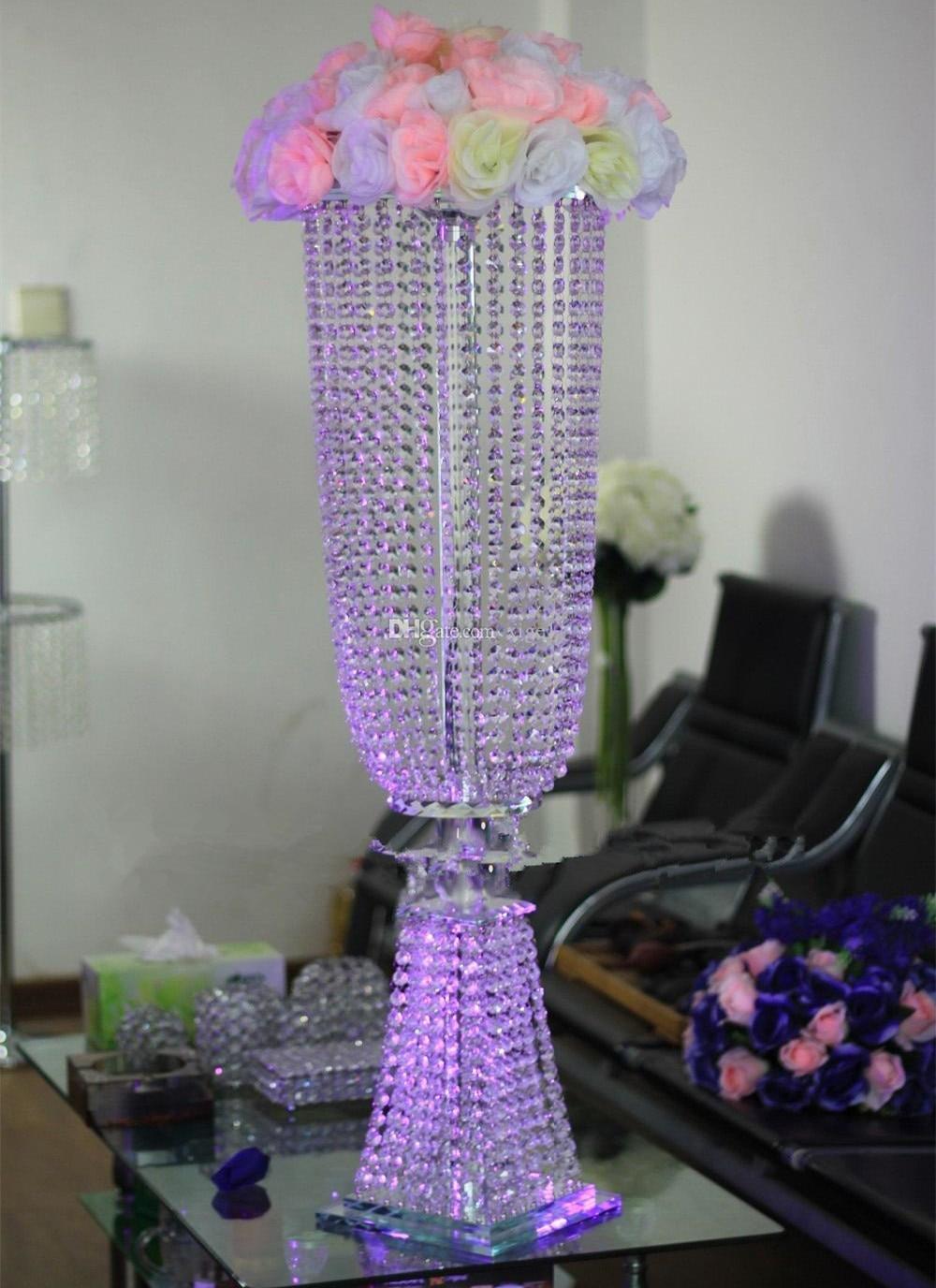 Cortina de cuentas de cristal de 100 cm de alto citada para decoración de bodas, decoración de mesa, candelabro, accesorios de decoración de área de bienvenida F