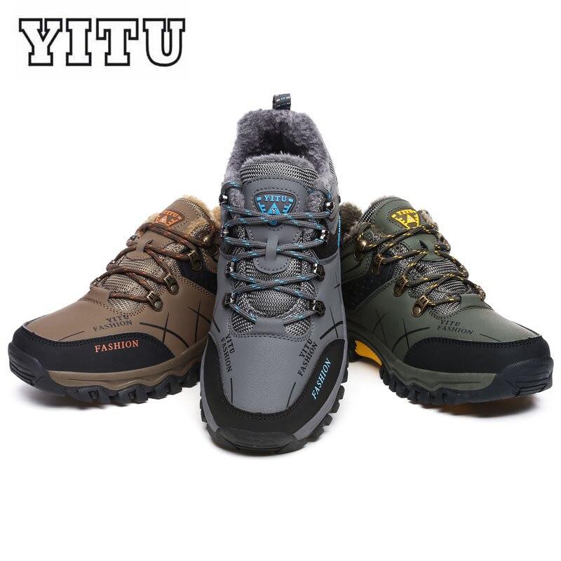 Plus Size Inverno Dos Homens Tênis Para Caminhada Antiderrapante Sapatos de Desporto Ao Ar Livre Caminhando Trekking Escalada Sneakers Zapatillas Botas Confortáveis