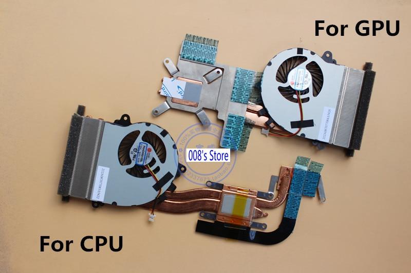 Brand Laptop CPU GPU Cooler Heatsink Fan For MSI GS70 -2PE GS72 Stealth Pro Radiator AAVID PAAD06015SL N229 N269 0.55A 5VDC