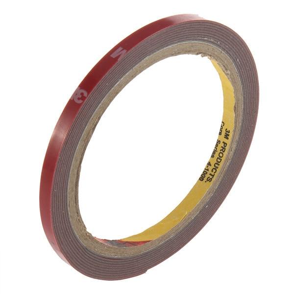 1 stücke 3M Rot Band 6mm Breite Hohe Festigkeit Auto Lkw Auto Aufkleber Acryl Schaum Fahrzeug Doppelseitige klebstoff