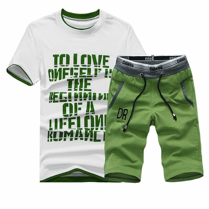 2020 New T-Shirt Sets Men Summer Tshirt O-neck Men Casual Outwear Tracksuits Brand Clothing Fashion T Shirt Set Men