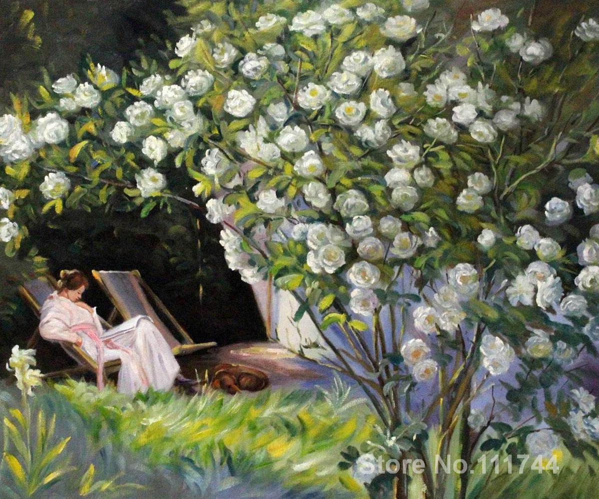 Pinturas de Peder Severin Kroyer Rose Garden óleo sobre lienzo de alta calidad pintado a mano