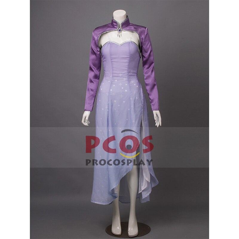 RWBY Vol.4 temporada 4 reina de hielo Weiss schnee vestido largo Cosplay disfraz & Tiara & Earings mp003386