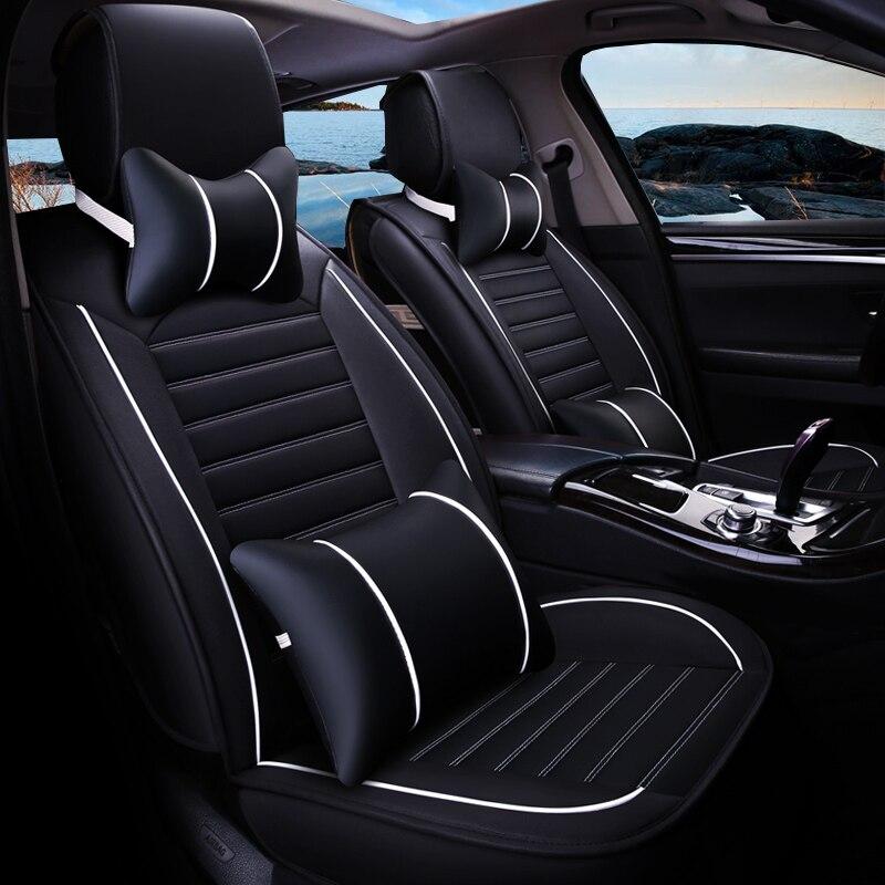 Universal PU Leather car seat covers For Encore Envision Enclave Regal Lacrosse Park Avenue Cora GL8 car accessories styling