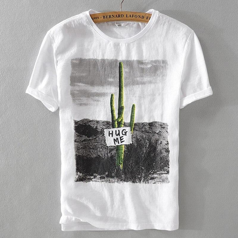 إيطاليا العلامة التجارية الرجال الصيف تنفس الكتان t قميص الرجال عارضة جولة الرقبة قصيرة الأكمام الرجال تي شيرت الكتان camisetas هومبر M-3XL